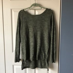 Knox Rose green sweater with lace up back